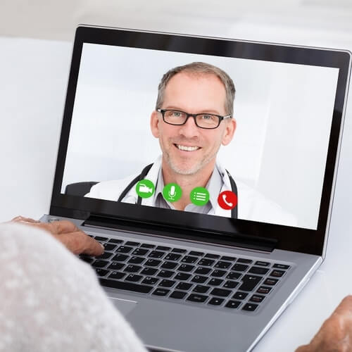 Button doctor on screen