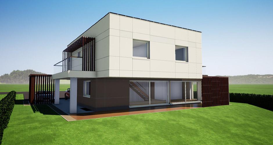 Einfamilienhaus in Hanglage