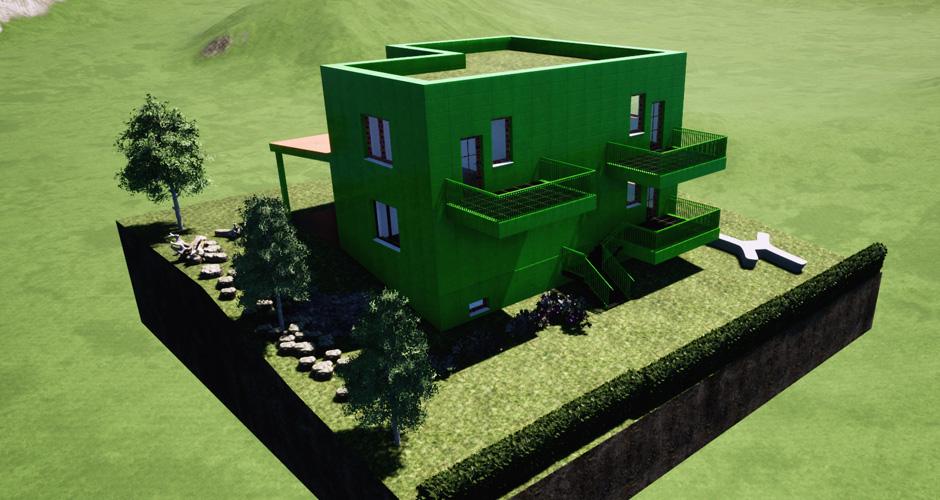 Einfamilienhaus am Hang