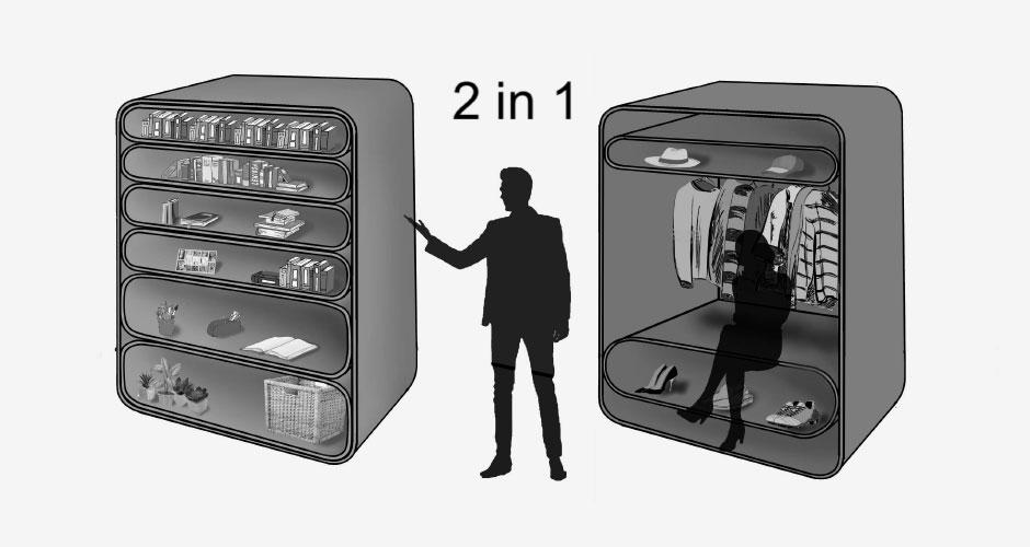 Multifunktionskasten mit mehreren Modulen
