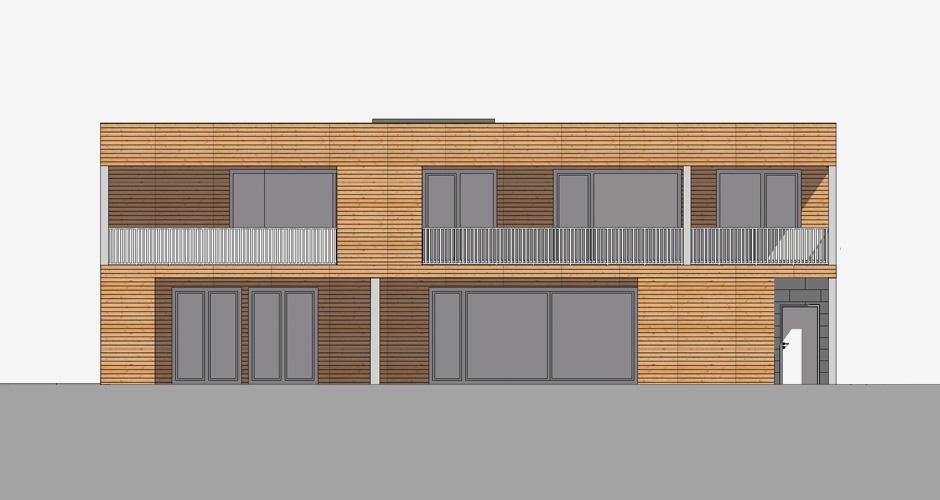 Dreifamilienhaus in Holzbauweise, Hörbranz