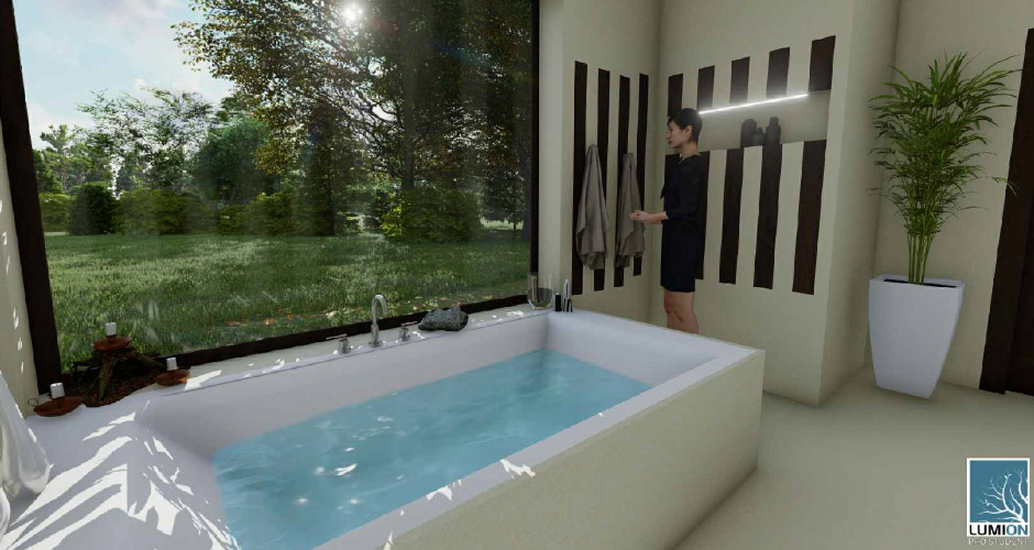 Salle de bain N. Das Eternit-Badezimmer