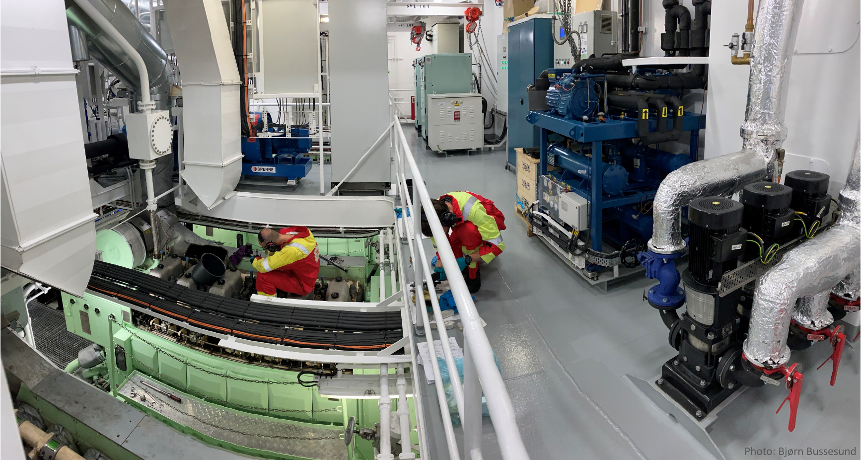 August: Maintenance in the engine room