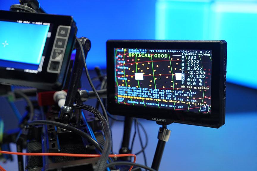 Behind the scenes look at virtual production camera tracking