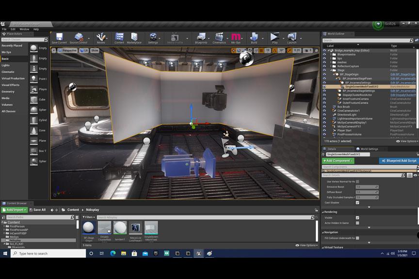 Photo of Unreal Engine scene rendering