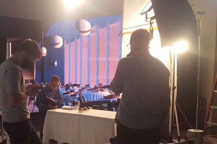 Photo of a virtual production set: restuarant.