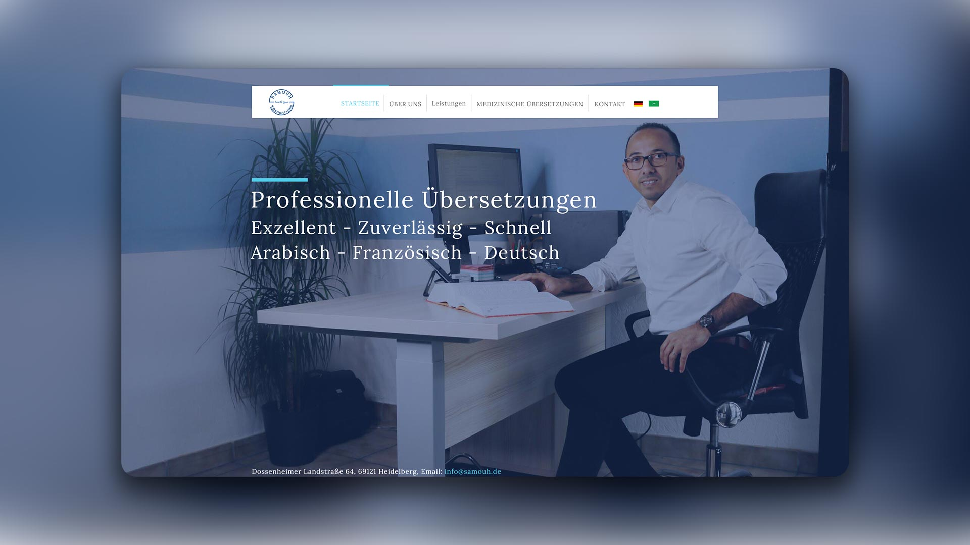 Mischler Webdesign Mannheim portfolio Samouh Traductions webseite