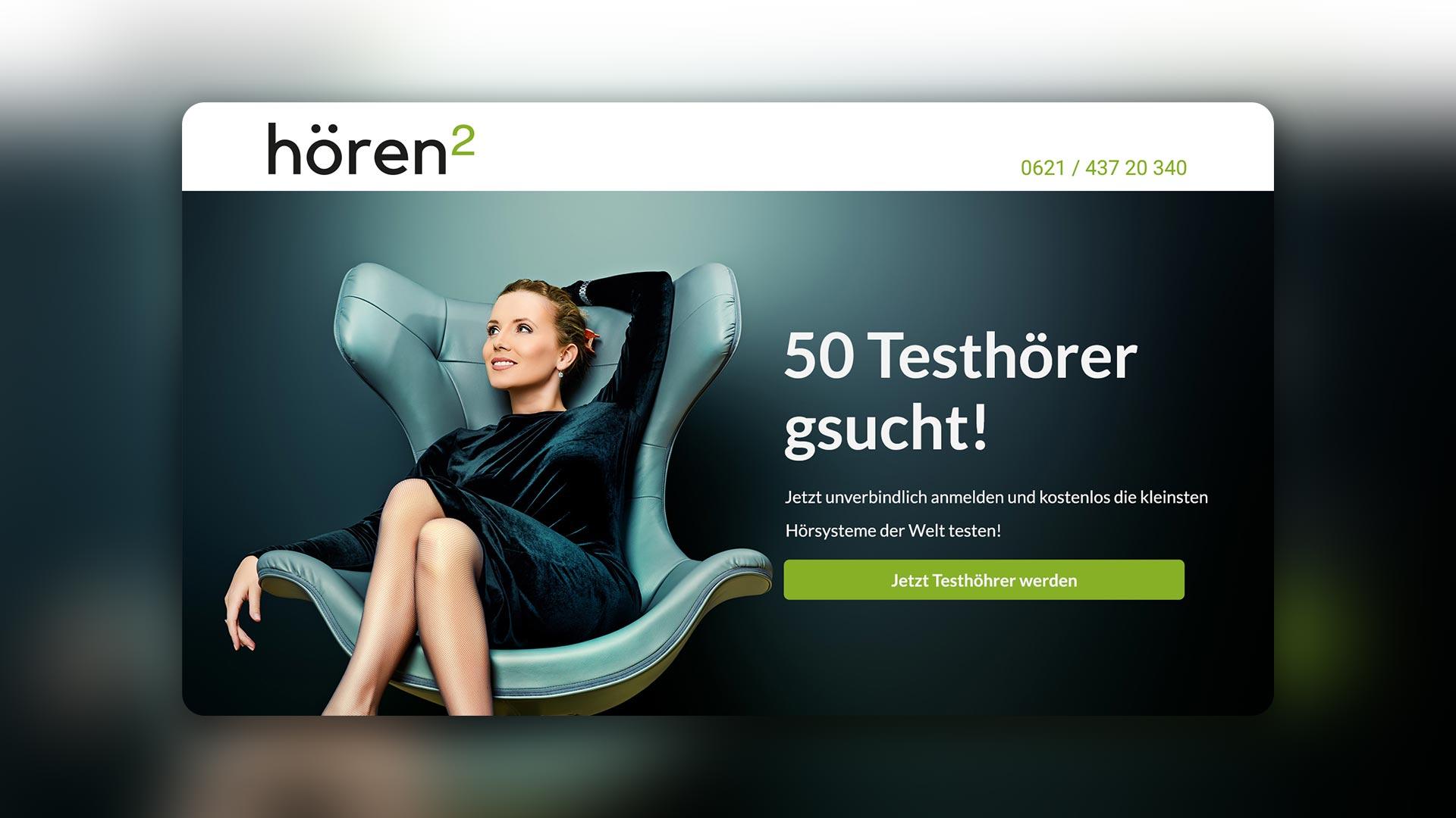Mischler Webdesign Mannheim portfolio hoerenhochzwei landingpage