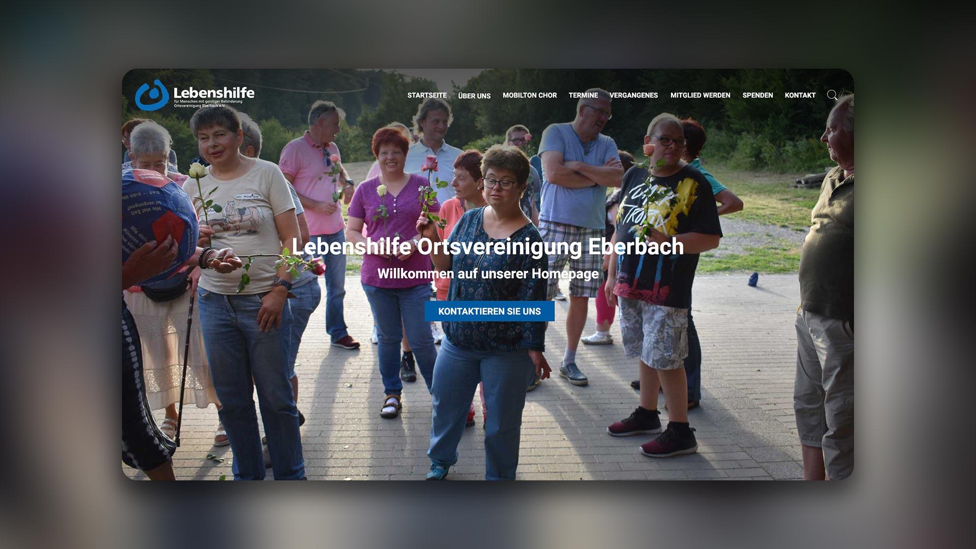 Mischler Webdesign Mannheim portfolio lebenshilfe eberbach charity projekt