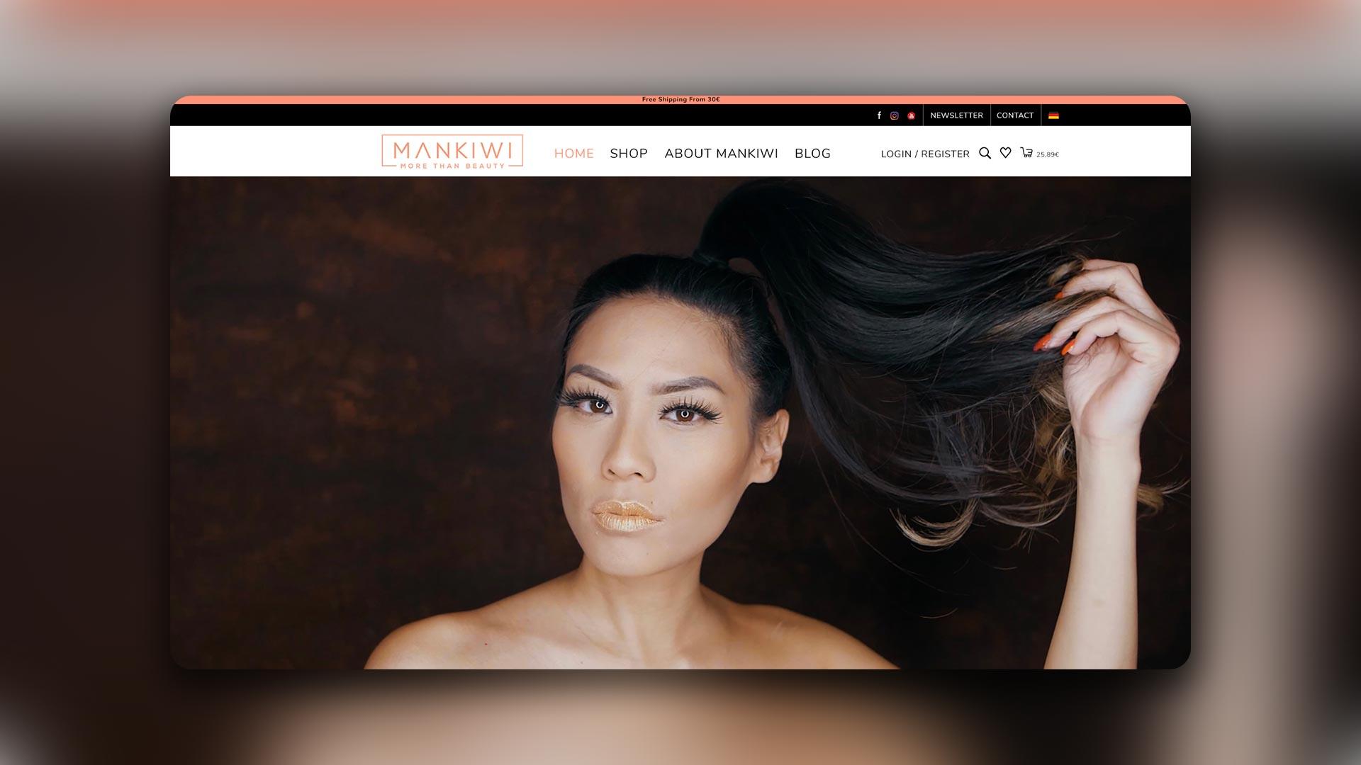 Mischler Webdesign Mannheim portfolio mankiwi onlineshop