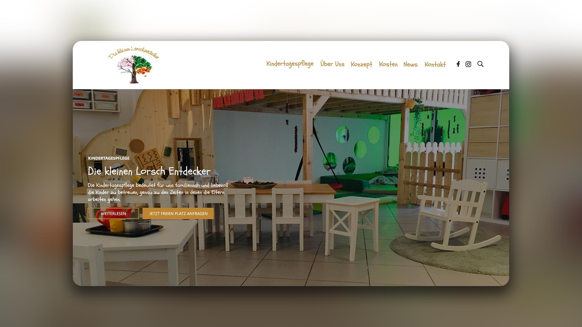 Mischler Webdesign Mannheim portfolio die kleinen lorsch entdecker webseite
