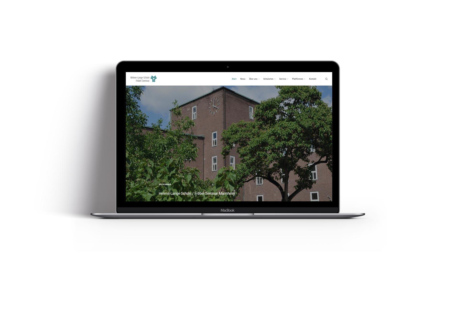 Mischler Webdesign Mannheim portfolio helene lange schule webseite