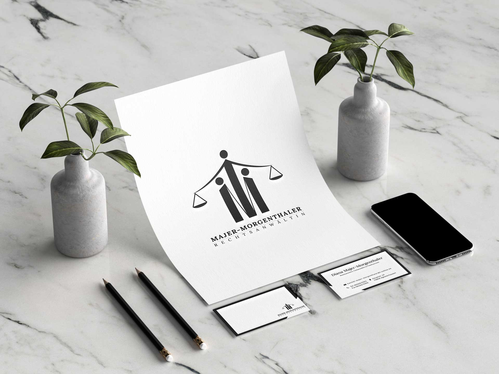 Mischler Webdesign Mannheim portfolio majer-morgenthaler webseite
