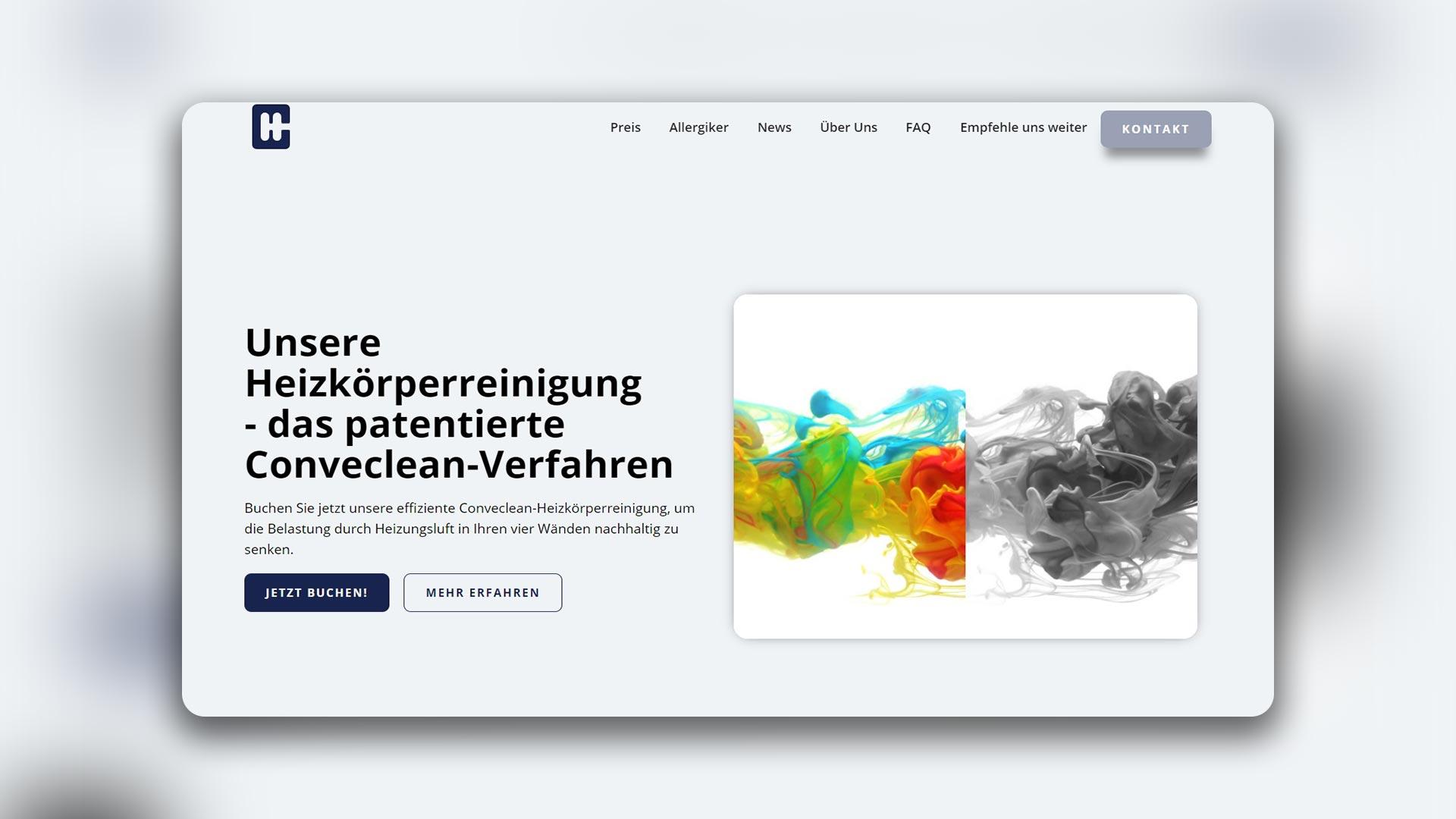 Mischler Webdesign Mannheim Conveclean Heizkörperreinigung