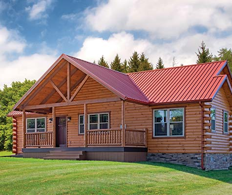 Sunset Ridge Modular Log Home