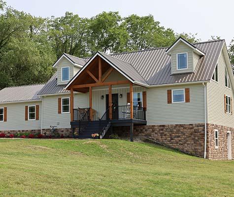 Custom Modular Log Home