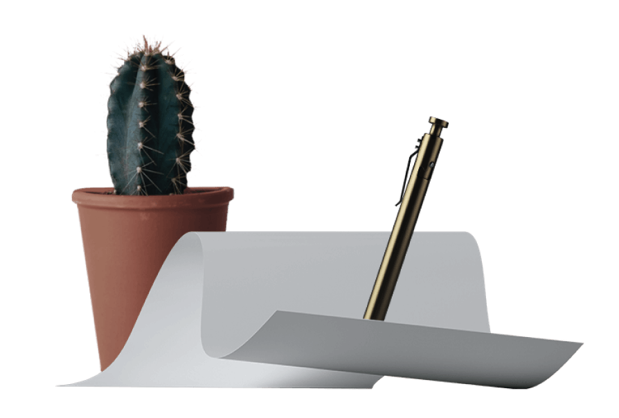 Cactus and document. Data agreement.