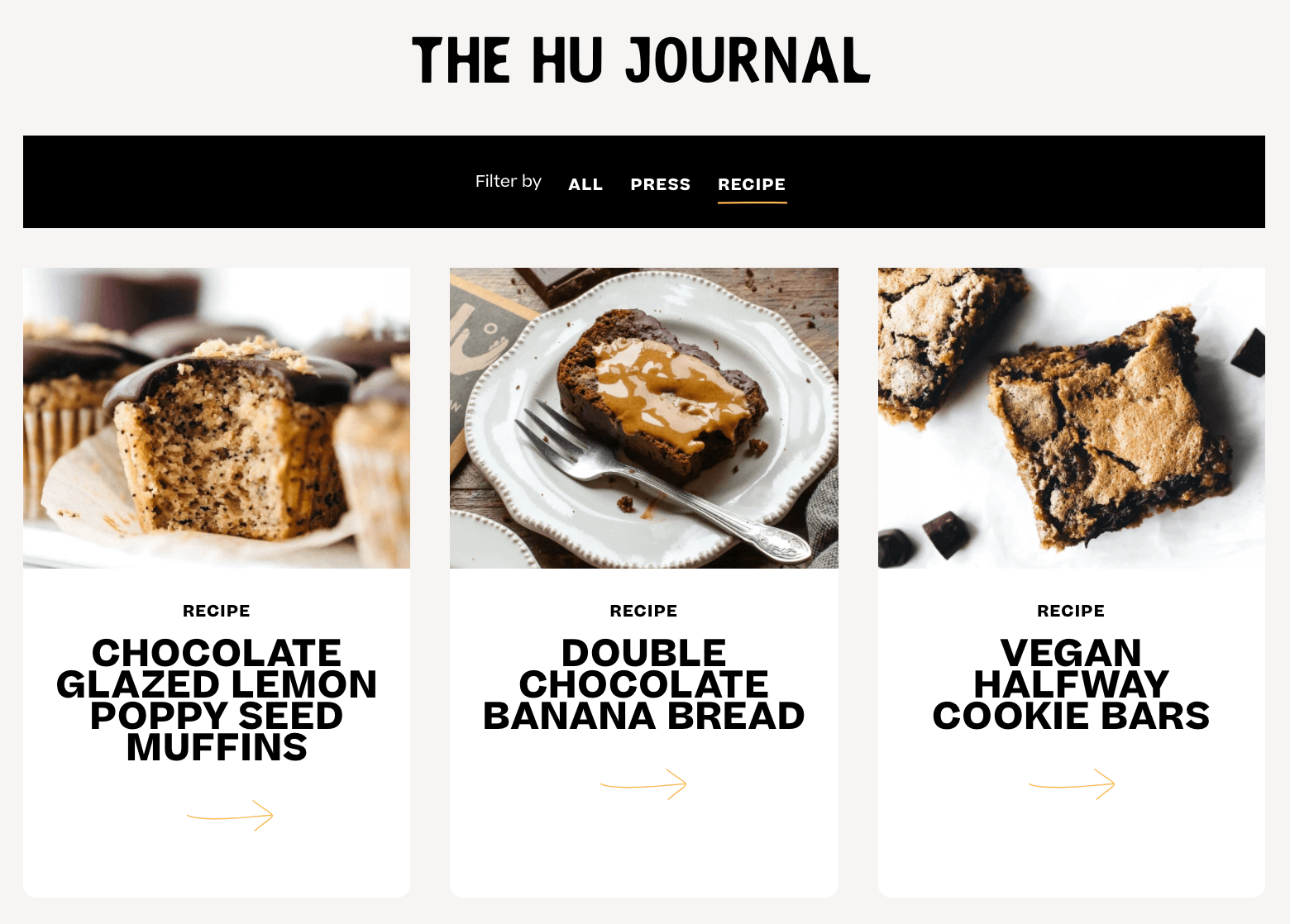 Hu has dedicated recipe blogs that highlight the number of different ways their product can be used