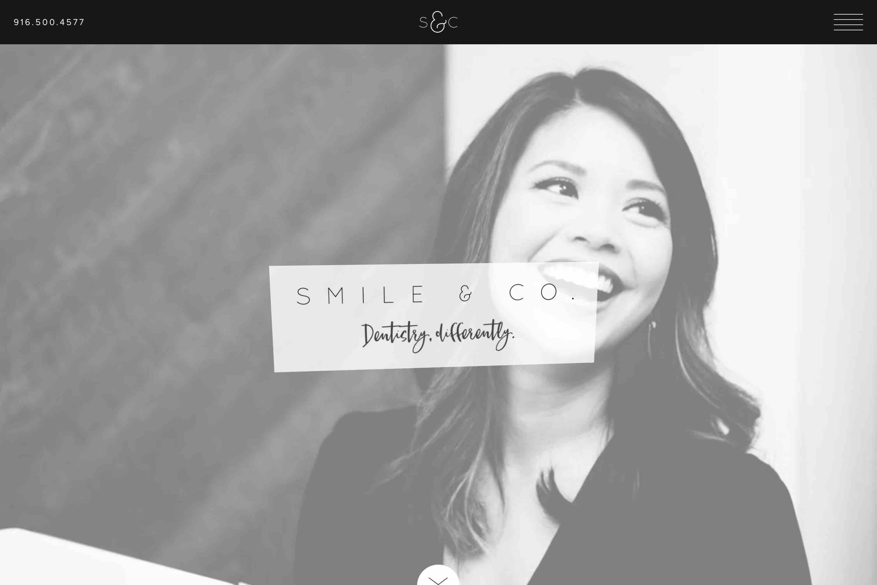 A screenshot of the Smile & Company website