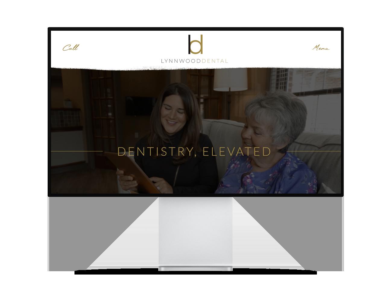 Screenshot of the Lynnwood Dental website