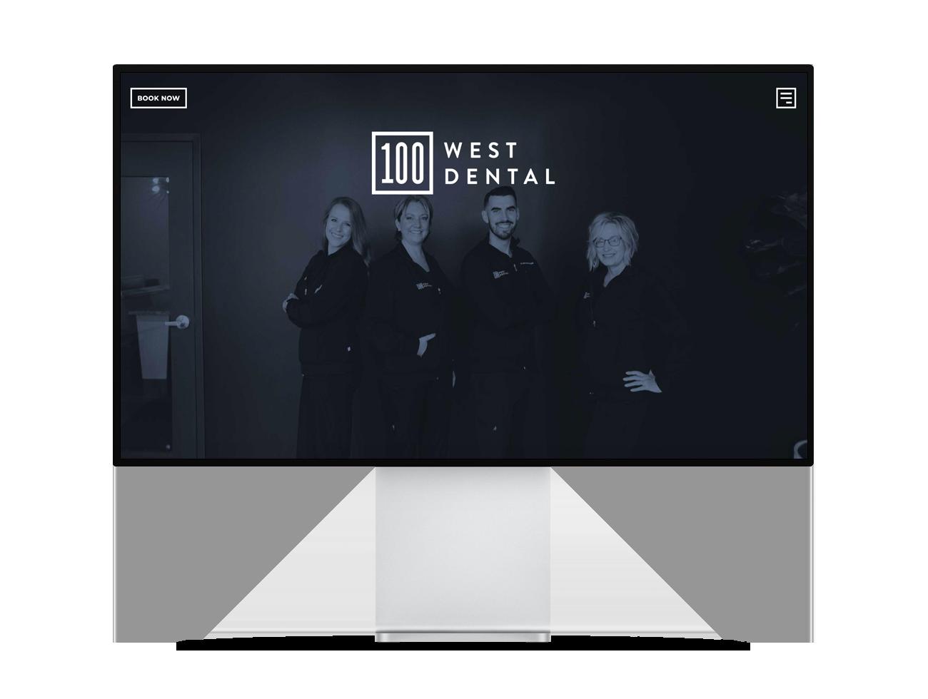 Screenshot of the 100 West Dental site