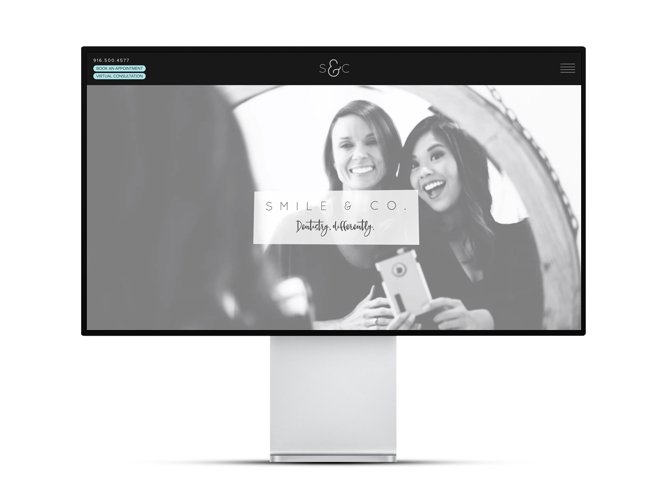 Screenshot of the Smile & Company site