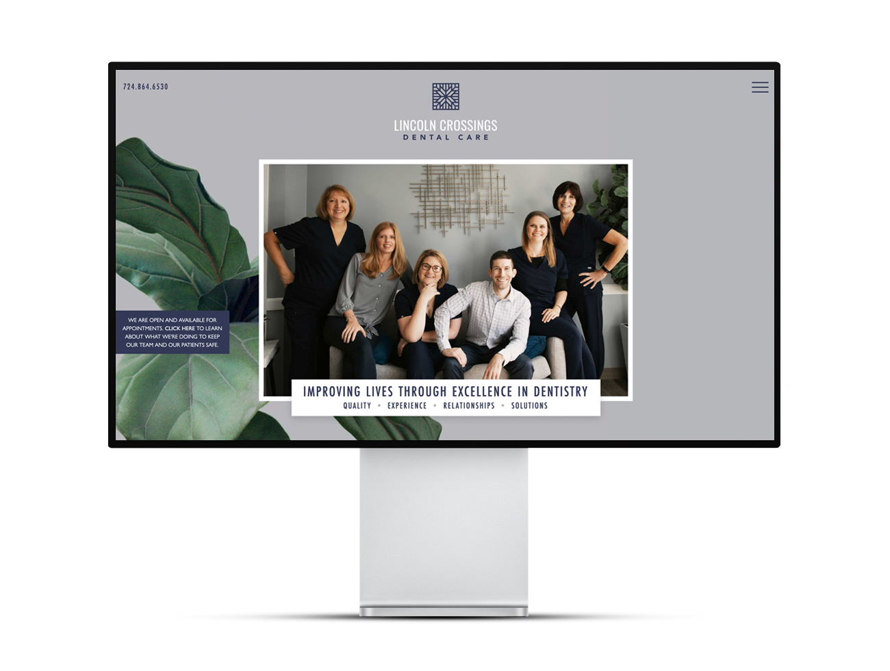 The Lincoln Crossings Dental Care homepage