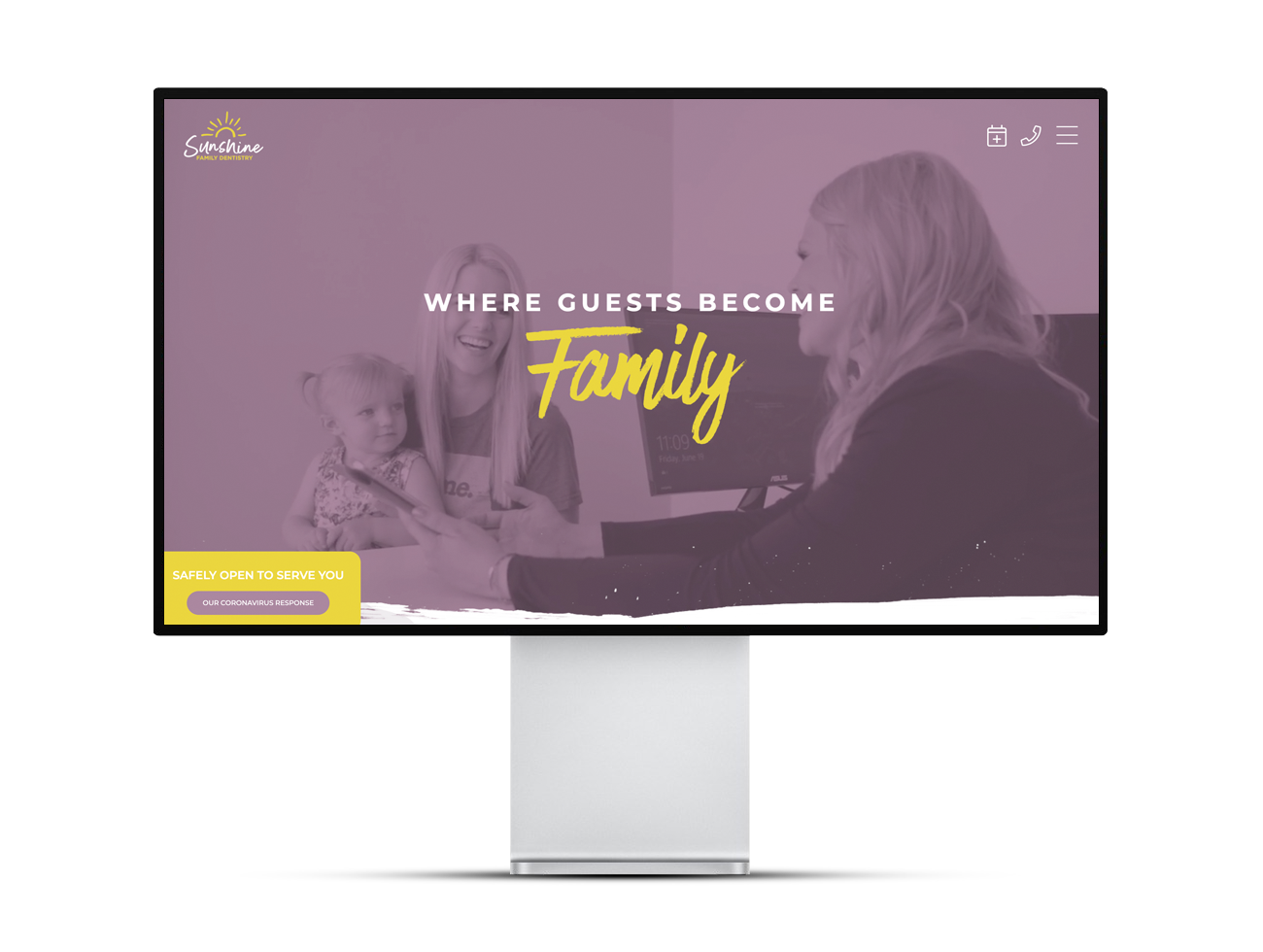 The Sunshine Family Dentistry website homepage