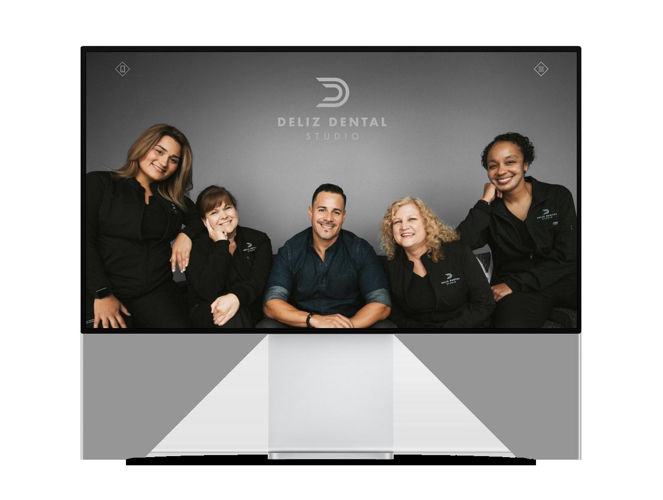 Screenshot of the Deliz Dental Studio homepage