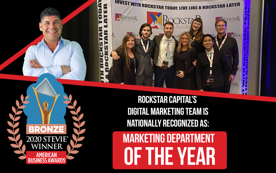 Rockstar Team Wins Marketing Department of the Year at The Stevie Awards