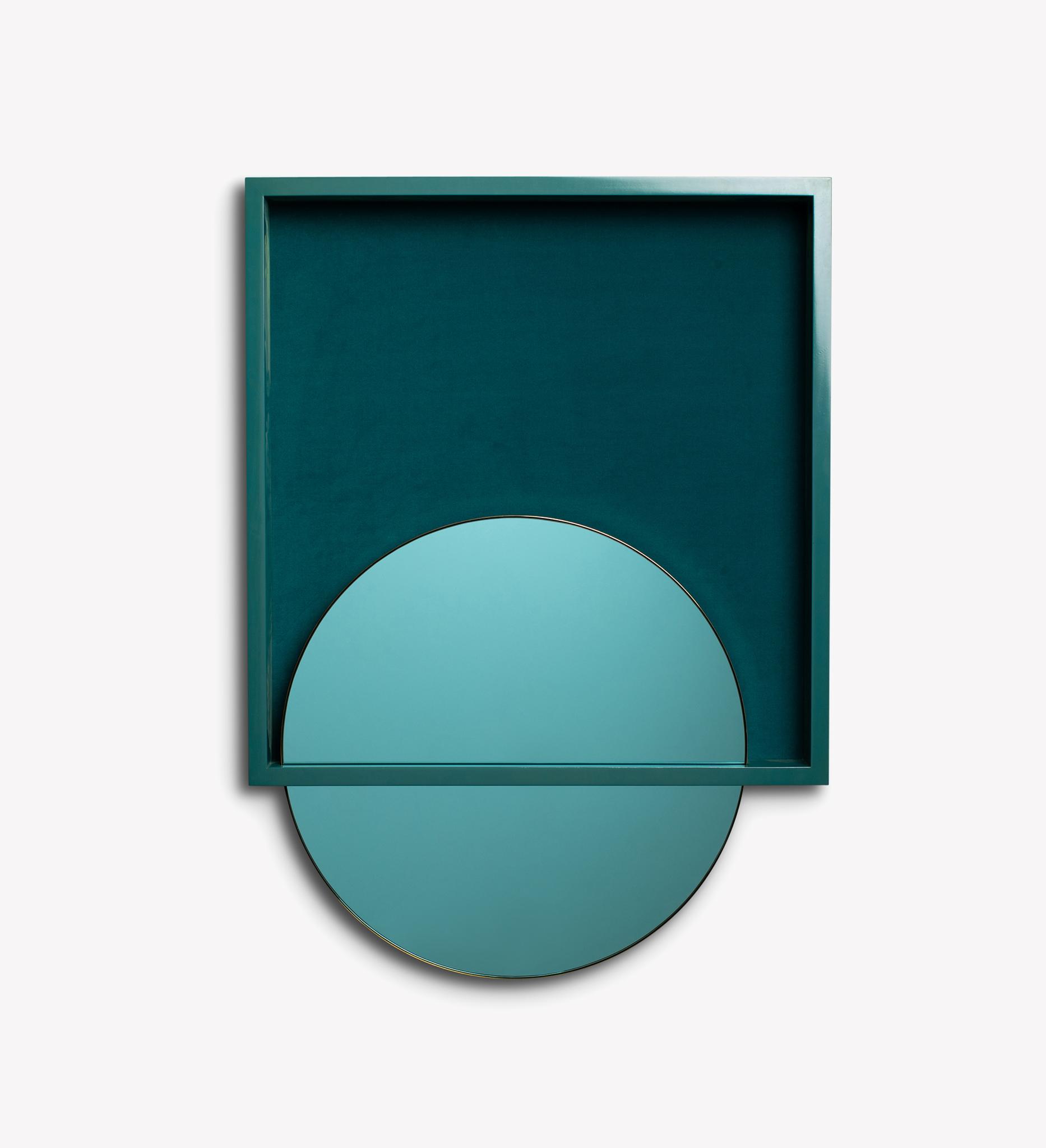 mirror, wood, velvet