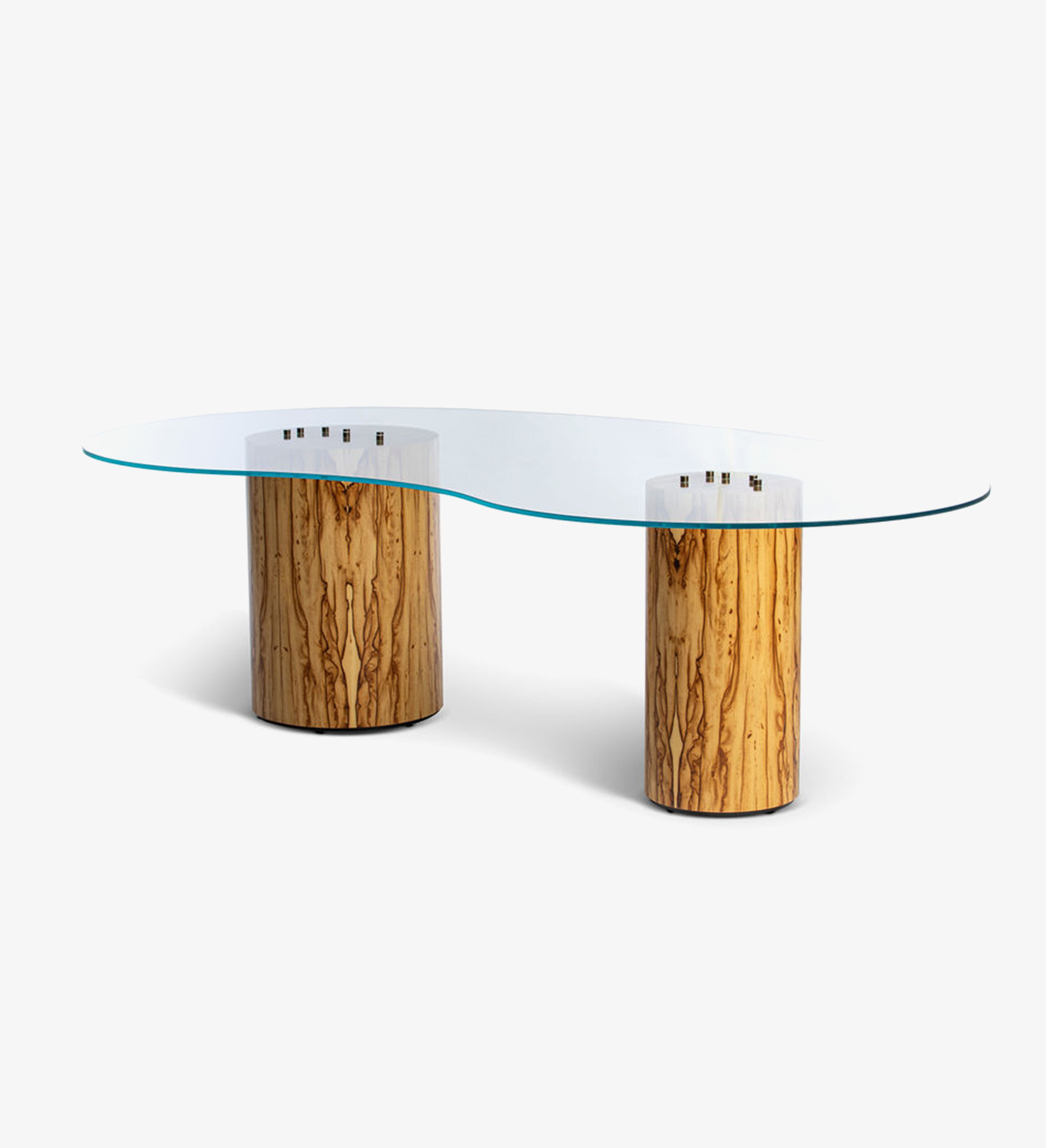 Table, desk, glass, Chen Chen, Flax, Glass top, Bronze, braille, neutral, wood, office, home, home office, see me