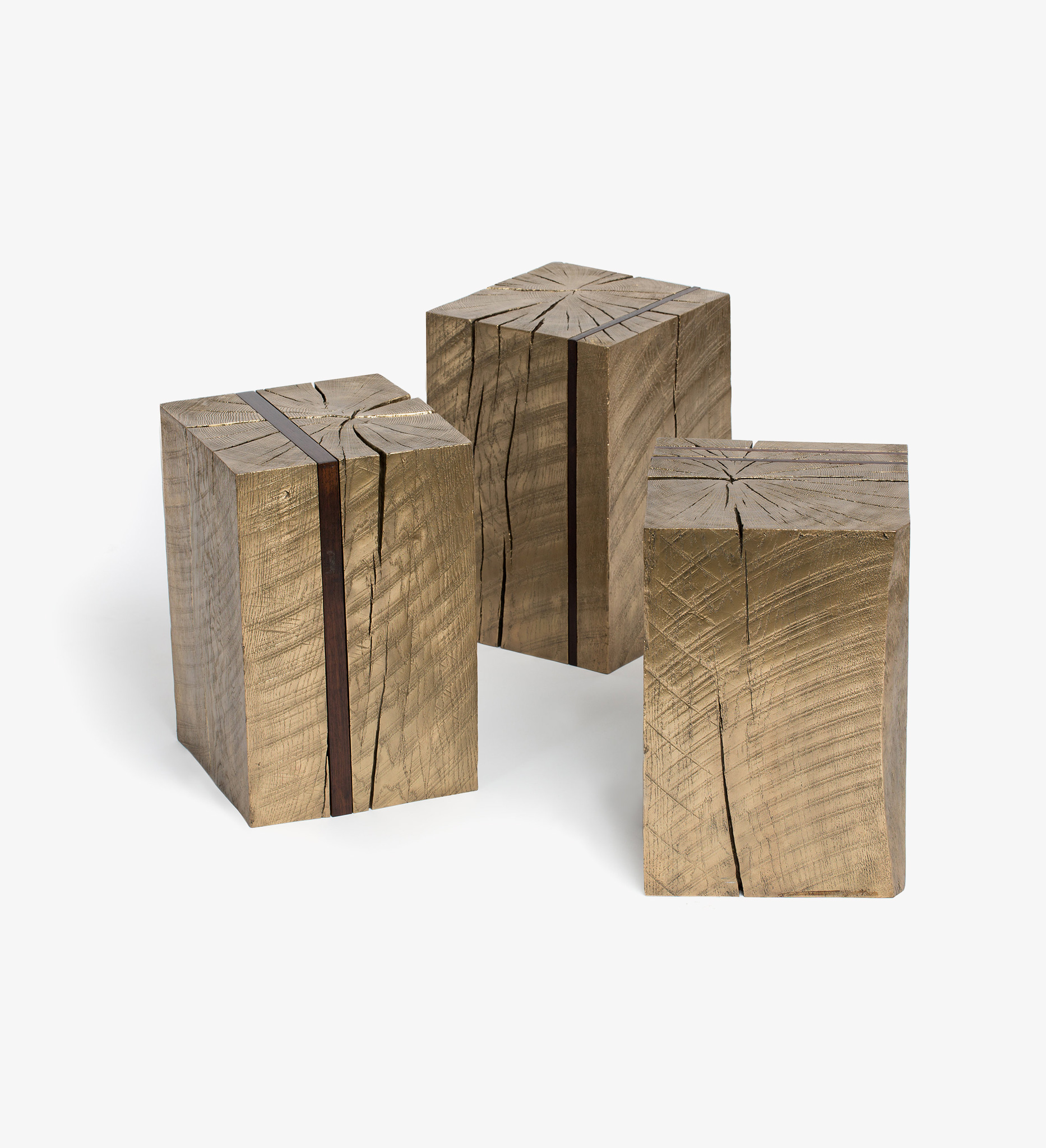 stool, bench, table, bronze, wood, natural, Torre, seating, chair