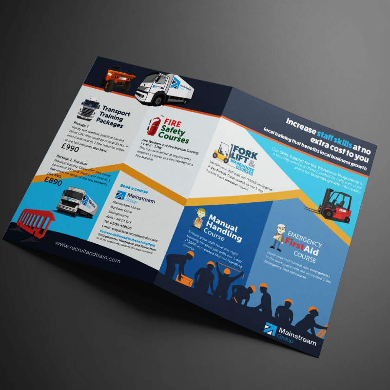 Printed brochure designer Hythe kent