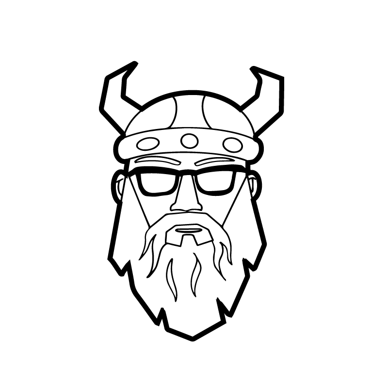 Viking head illustration