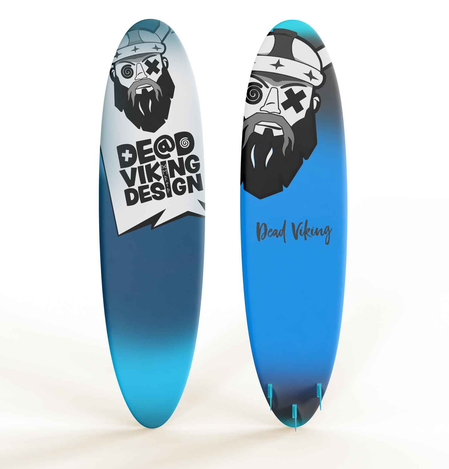 Surfboard logo design