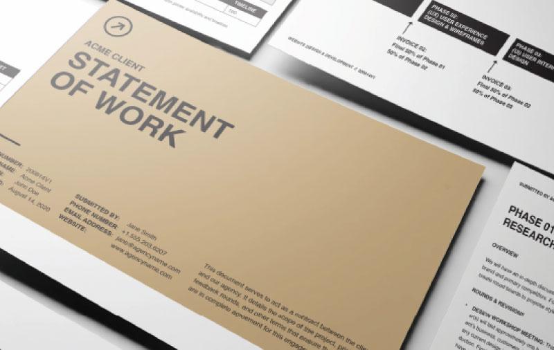 A designers statement of work