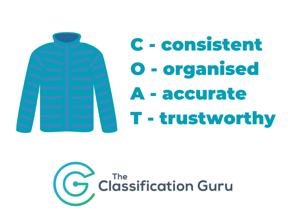 The Classification Guru data acronym, COAT.