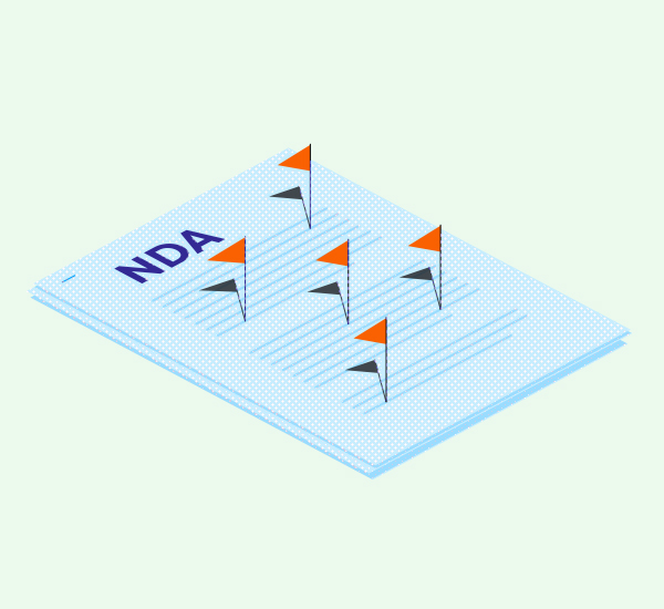 Nondisclosure agreement (NDA) illustration