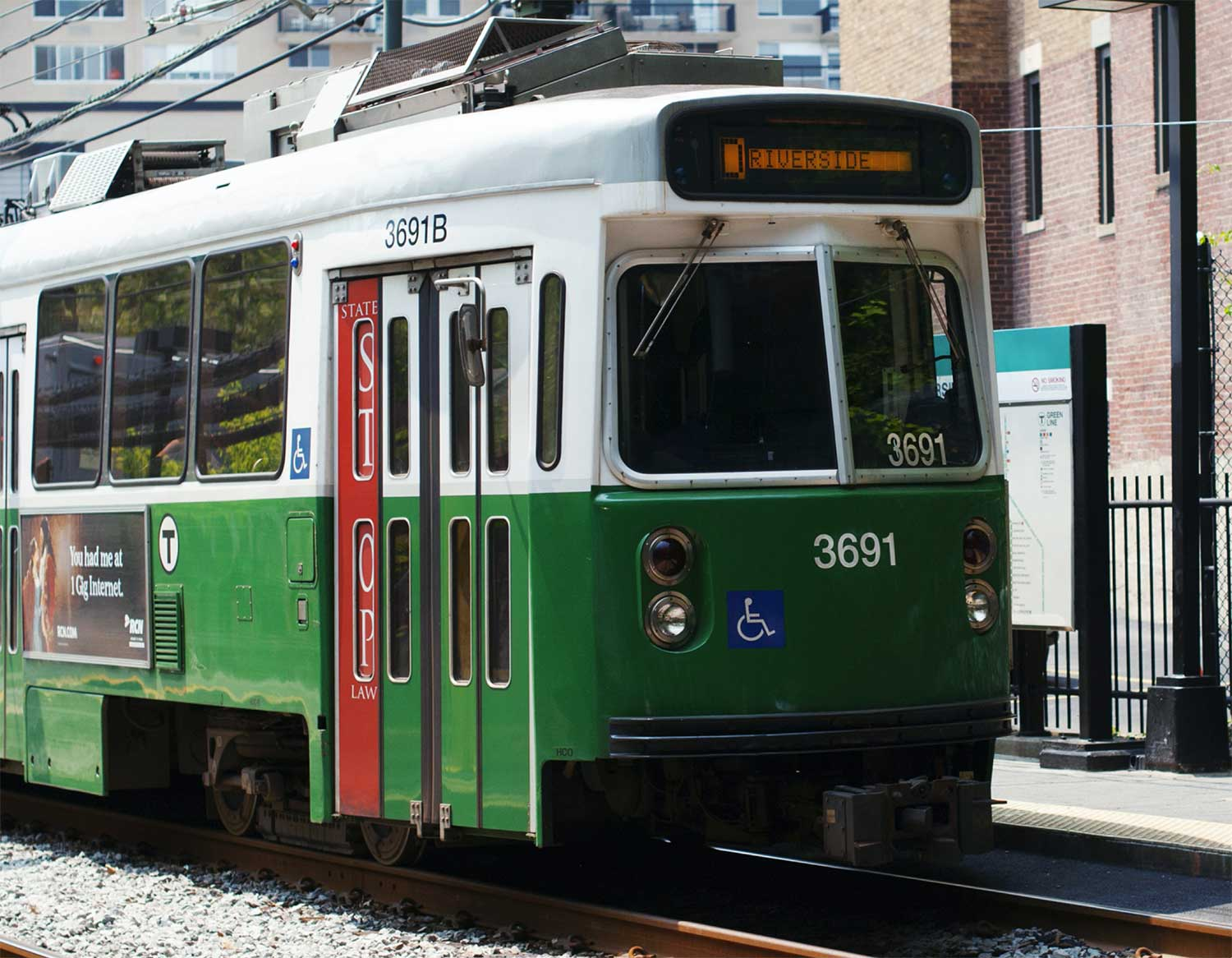 Image of one of the Boston trolleys
