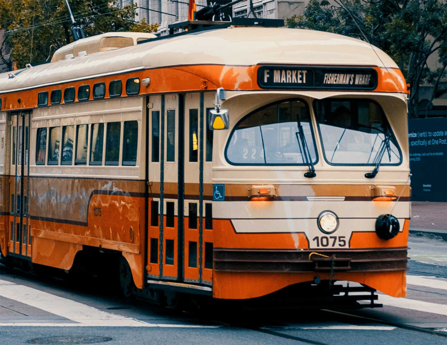 Image of one of the San Francisco trolleys