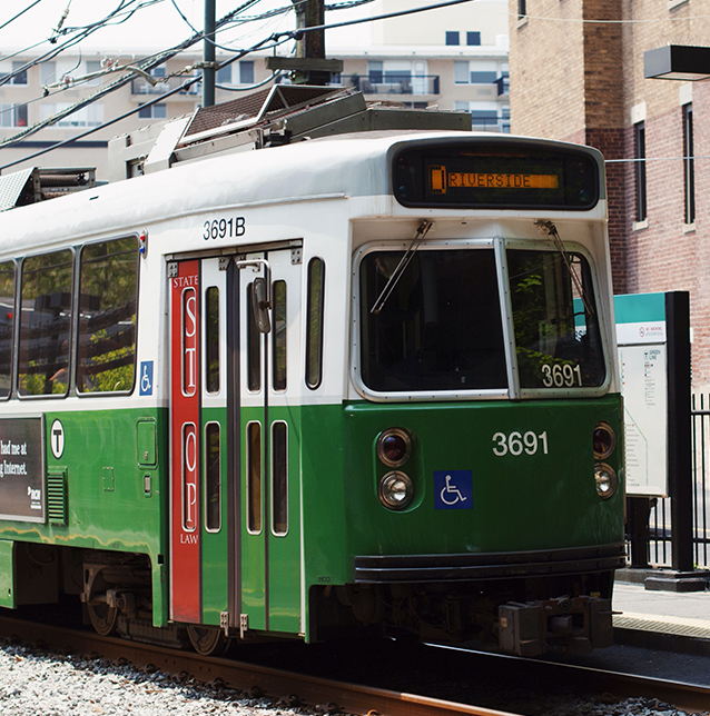 Picture of the MBTA train green line