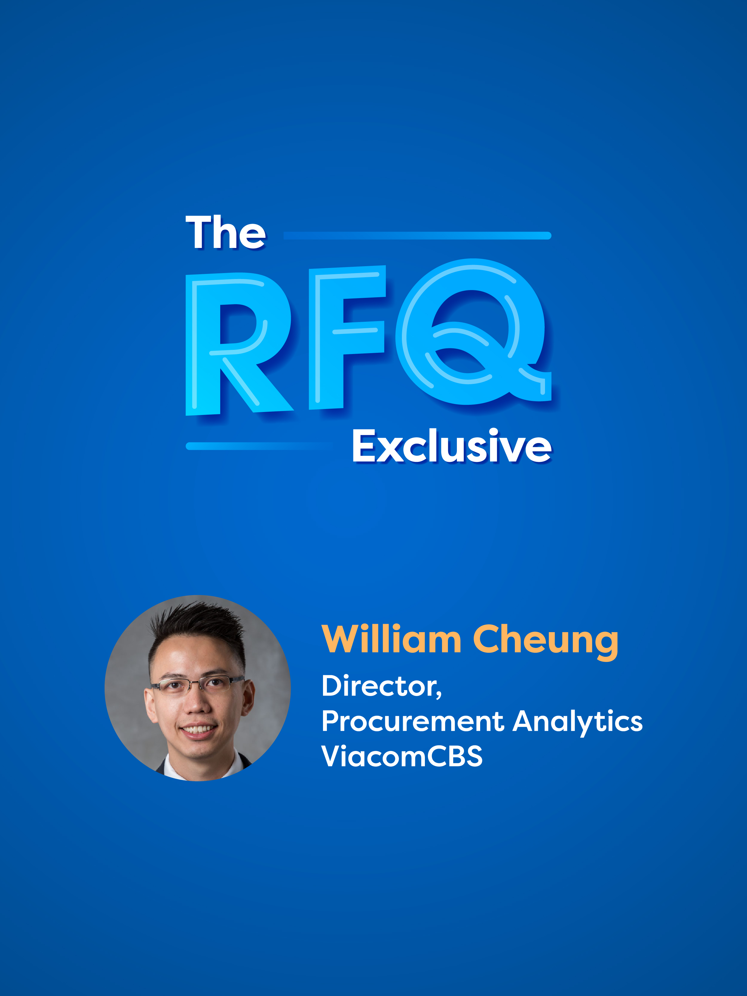 The RFQ Exclusive with William Cheung cover