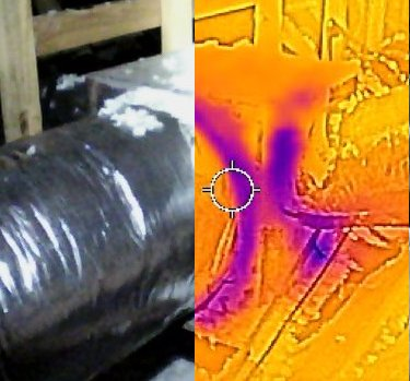 Thermal image duct inspection