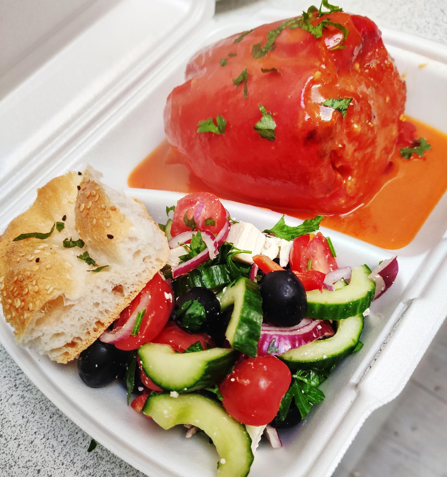 Dana's Kitchen gevulde paprika