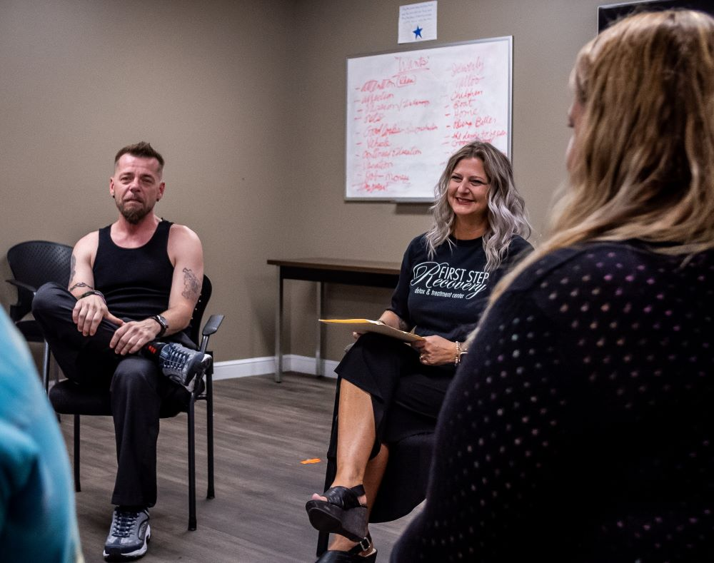 Group counseling at First Step Recovery