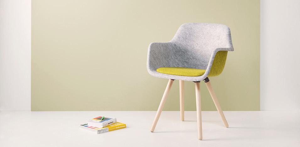 vilt stoel gemaakt van gerecycled plastic