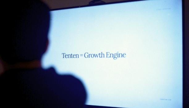 """Tenten equals Growth Engine"" presentation slide"