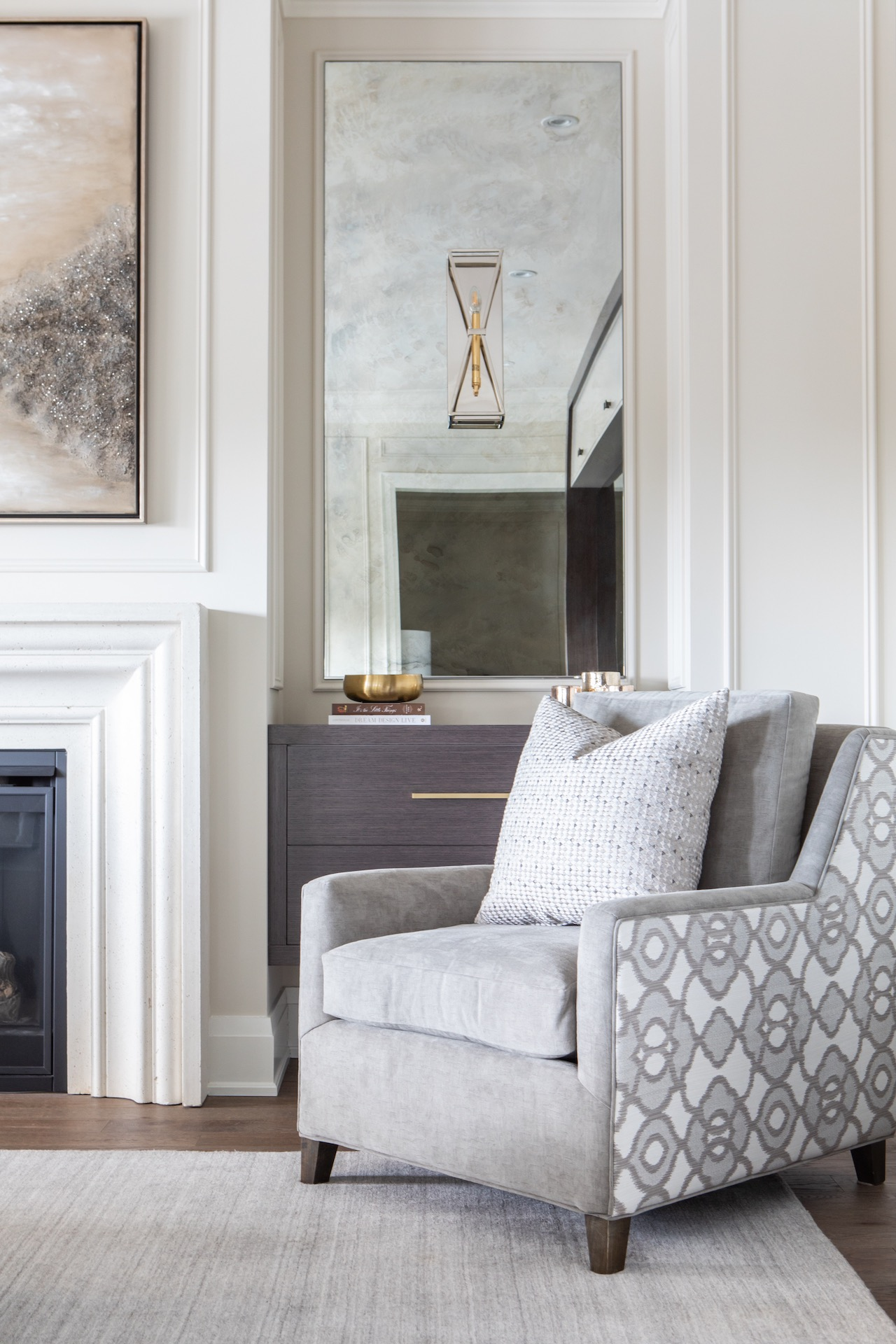 side chair in family room