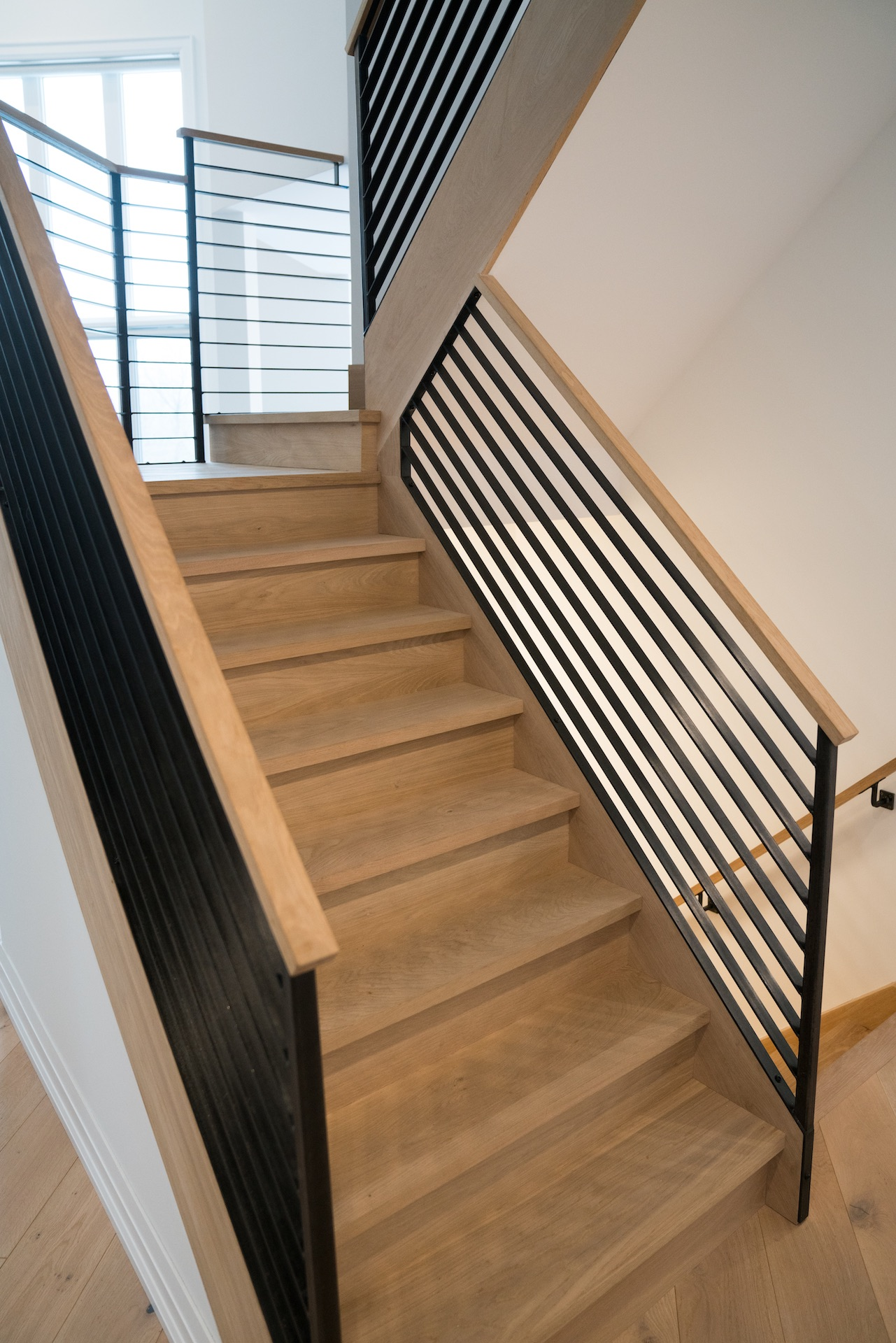 Wood stairs